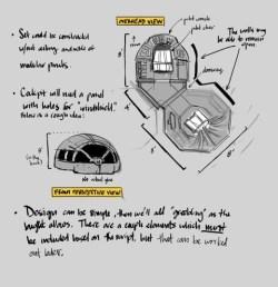 Ship Interior Concept by Ashley Lane