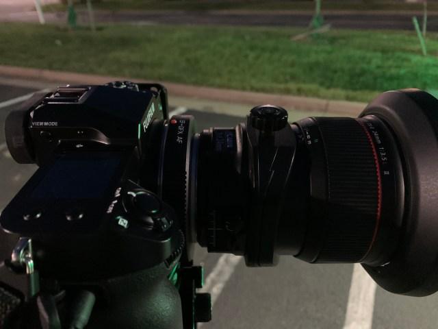 Canon 24mm on Fui GFX