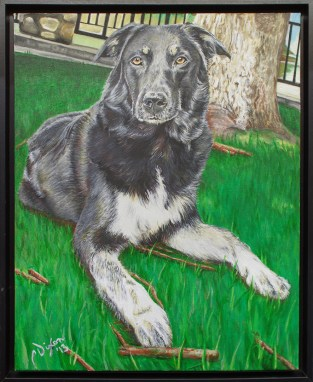 2013-05 – Commissioned Painting – Pet Portrait Painting by Cameron Dixon – Shanna