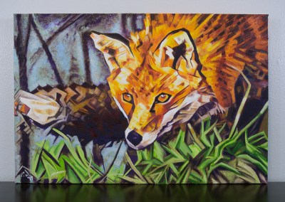 Painting by Cameron Dixon - The Surreptitious Stalker - complete full no frame