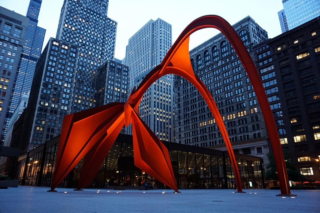 2015-08 - Chicago - Alexander Calder - Flamingo - DSC03640