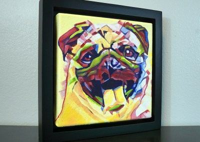 2017-04 - Painting by Cameron Dixon - Pug-1-frame-right-1080px