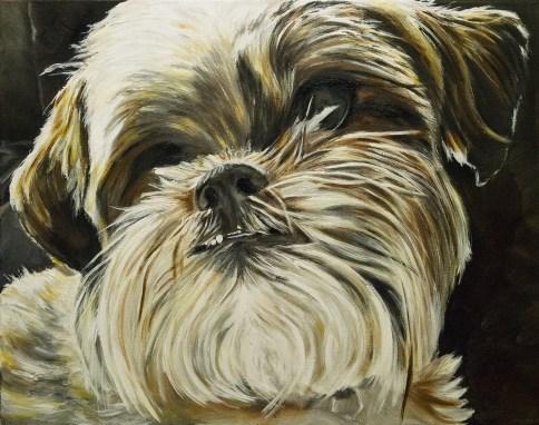 2015-09 – Commissioned Painting – Pet Portrait Painting by Cameron Dixon – Dakota