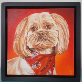 Commissioned painting by Cameron Dixon - DSC00296-Bell-frame-center-1080px