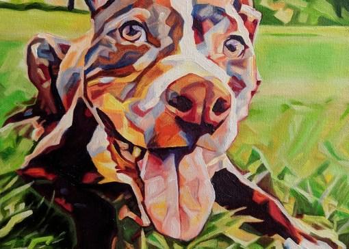 2018-04 – Commissioned Pet Portrait Painting by Cameron Dixon – Kane