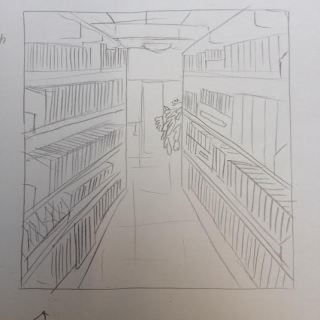 library drawing 1