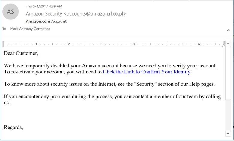 What does a phishing attempt look like (part 1)