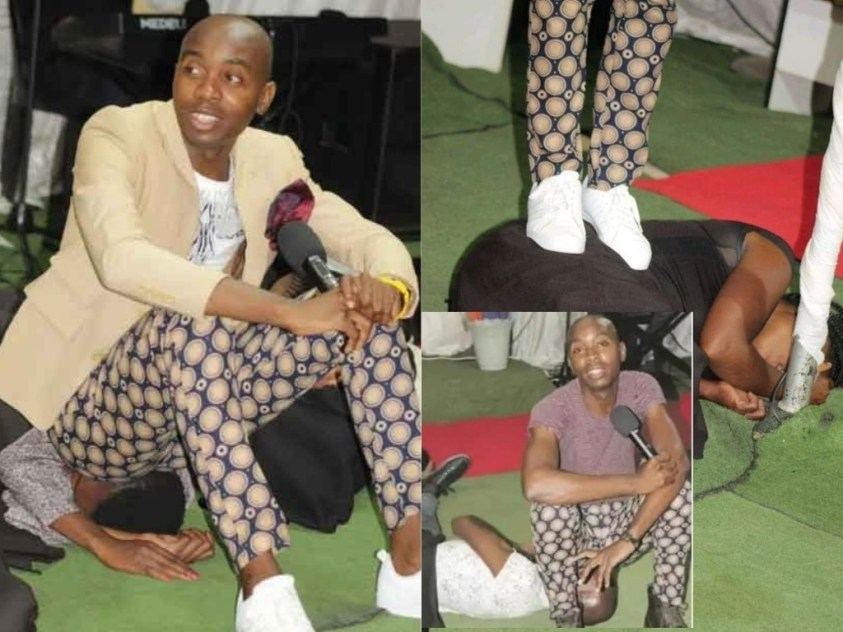 It's A Demonstration Of God's Power' – Pastor Who Sits And Allegedly Farts On Congregants' Faces Says After Being Called Out (PHOTOS)