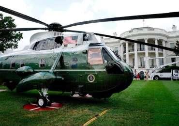 Démonstration : Donald Trump survole une manifestation de ses partisans à Washington à bord du Marine One