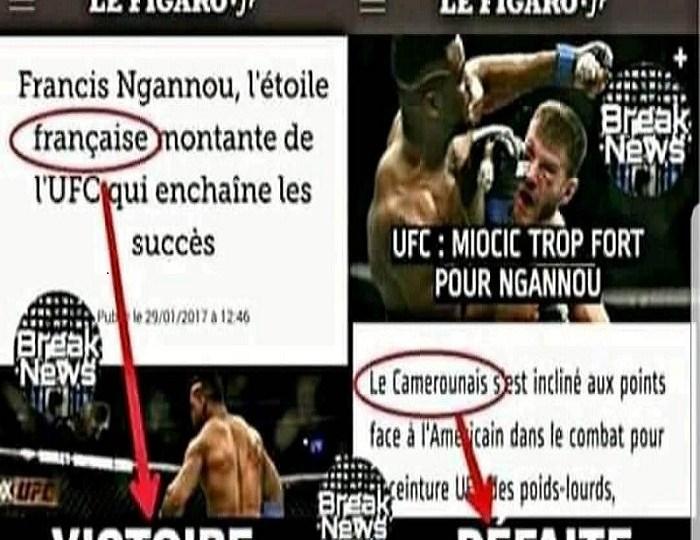 La presse française et Francis Ngannou : Quand la nationalité du boxeur est fonction de ses performances