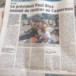 Exfiltration en catimini : Paul et Chantal Biya du Cameroun auraient fui vers la France. La preuve par 9 de l'utilité des manifs de Genève ?