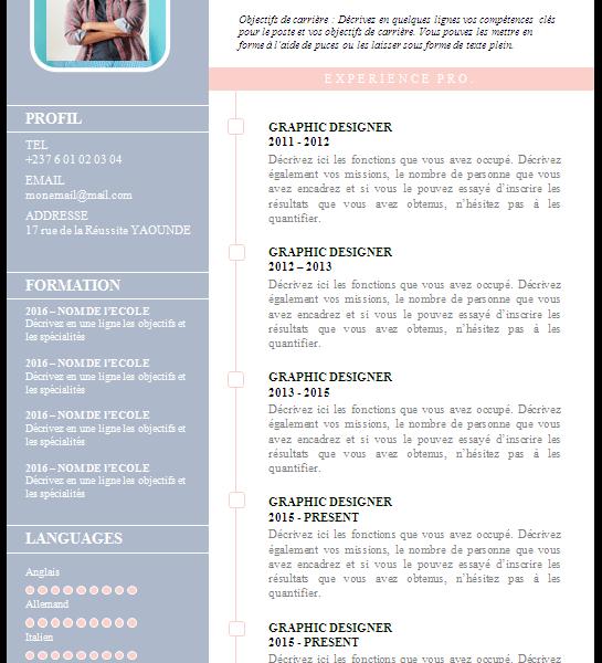 Modeles De Cvs Curriculum Vitae Gratuits A Telecharger Minajobs Net Emplois Stages Recrutements Services