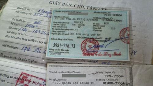 cầm cavet xe quận Tân Phú