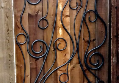 Take A Boring Wood Gate And Make It Amazing With Whimsical Iron Art