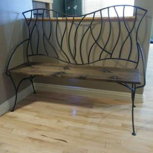 BENT Branches Wrought Iron Bench 5