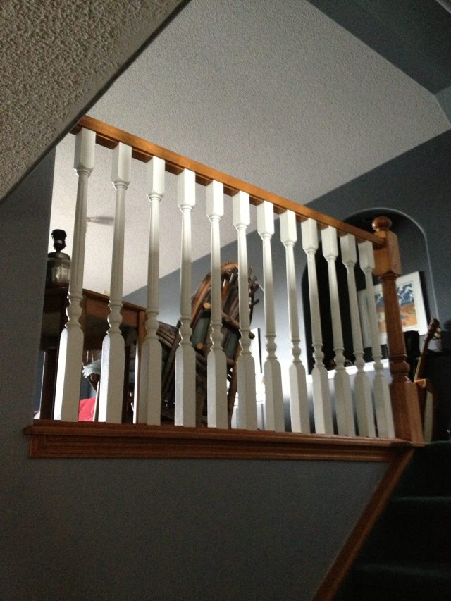 Lethaby Project BENT Iron Art Railing before 2