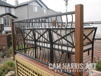 Wrought Iron Railings by Cam Harris in Airdrie Alberta 4