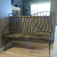 BENT Branches Wrought Iron Bench