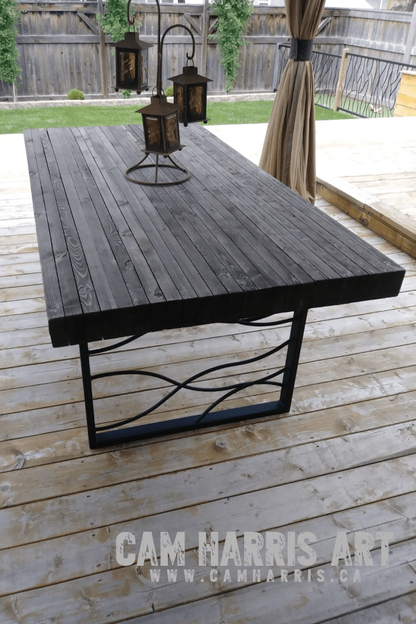 Diy Butcher Block Patio Table Ultimate Instructions By Cam Harris