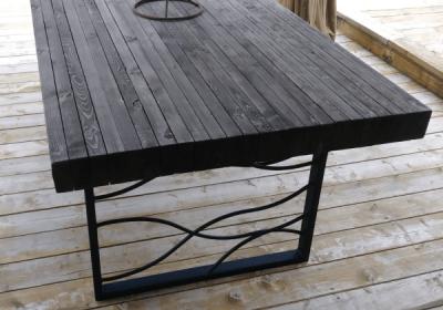 DIY Butcher Block Patio Table