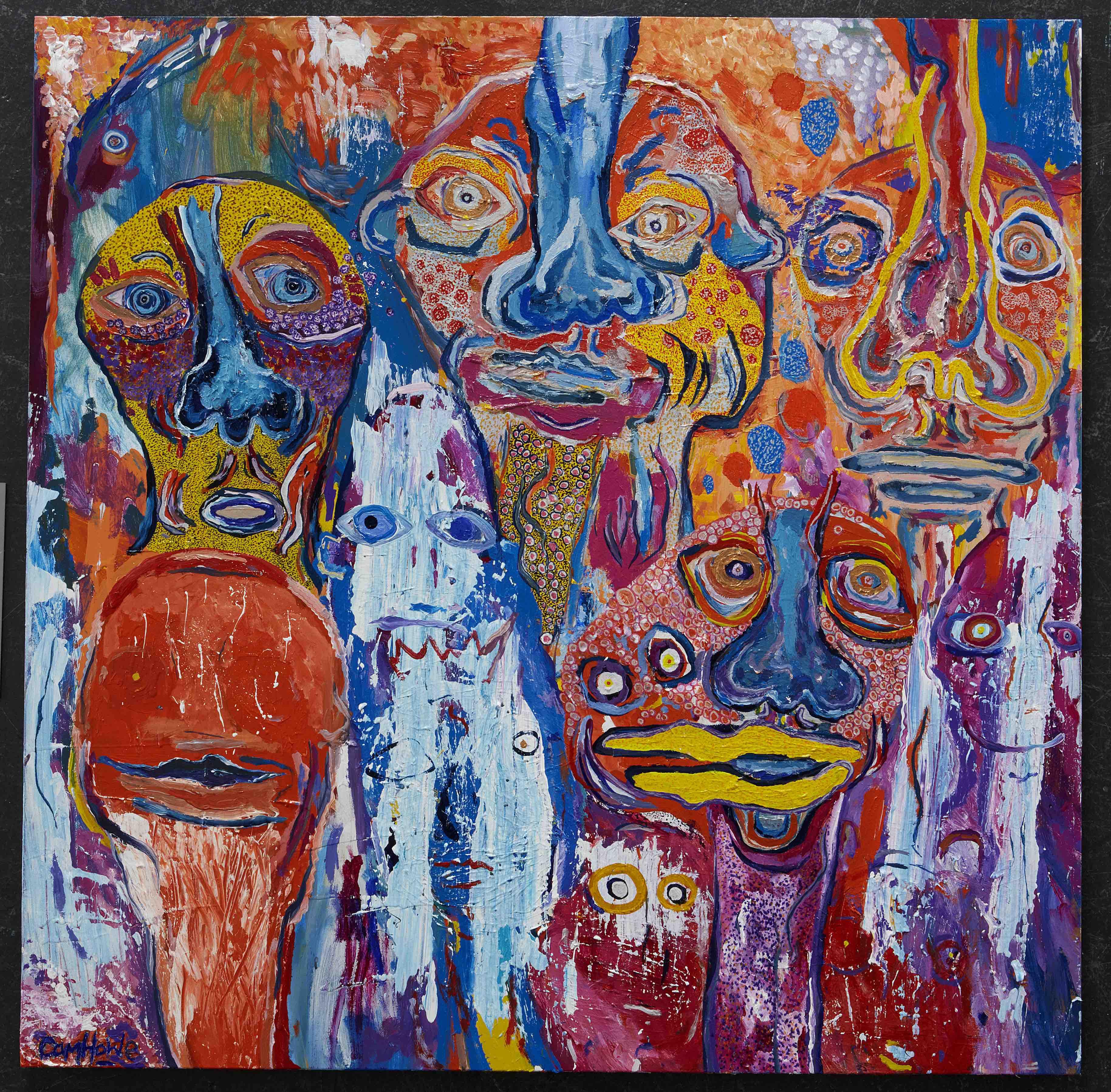 Ten Faces by Cameron Howe. Immersion exhibition, Frankston Arts Centre