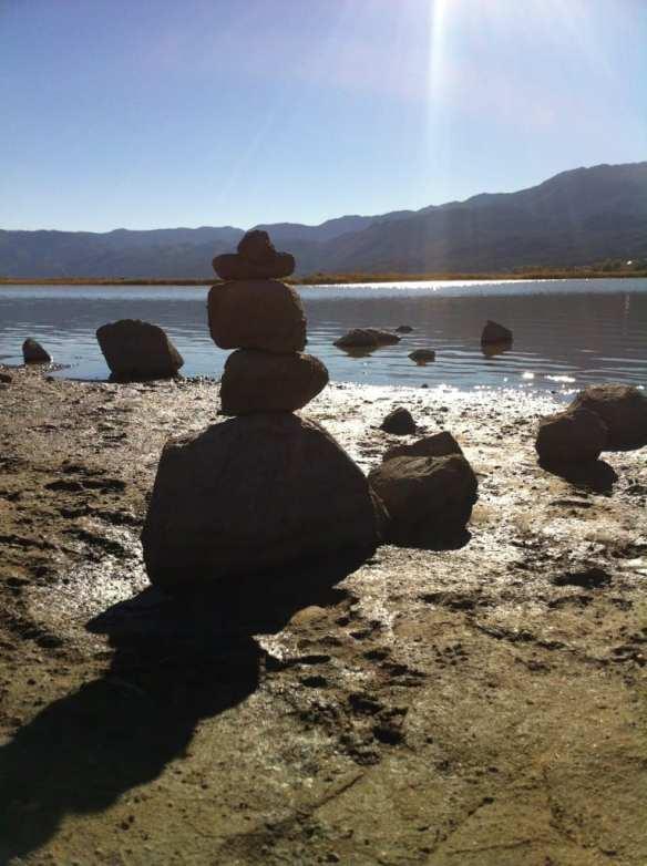 Zen Rocks Little Washoe Lake October 2015