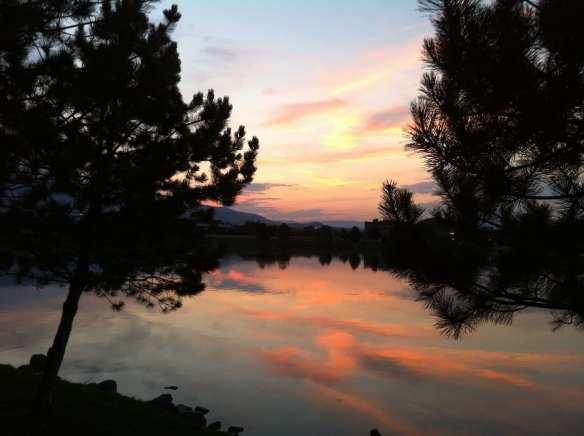 Fall 2015 Vintage Lake Sunset