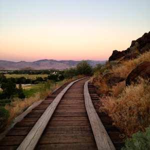 Bartley Ranch Old Train Track March 2017 Poem