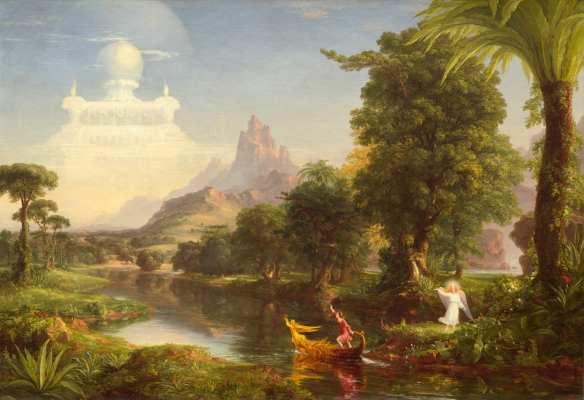 Thomas Cole (American, 1801 - 1848), The Voyage of Life: Youth, 1842, oil on canvas, Ailsa Mellon Bruce Fund 1971.16.2