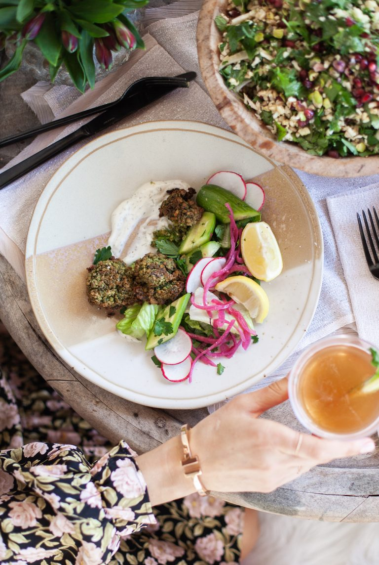 homemade falafel recipe for a valentine's date night at home