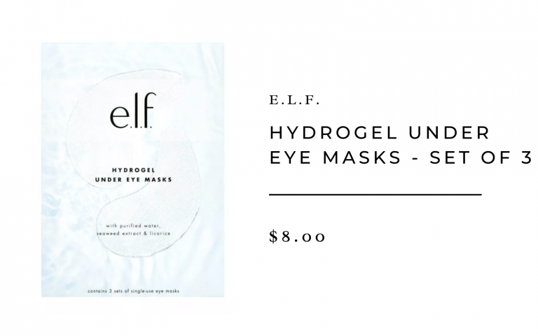 e.l.f. hyrdrogel under eye masks