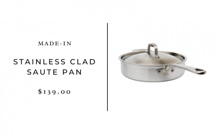 Made In Cookware, Stainless Clad 3.5 qt Saute Pan