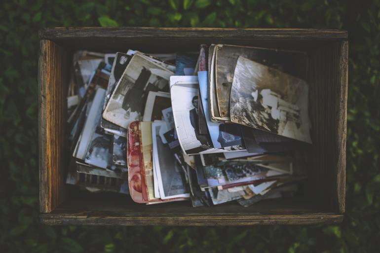 Box of memories and pictures.