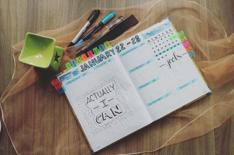 Instead of New Year's Resolutions, I advise setting monthly goals that are reachable and still make you feel productive. Writing them down in a planner holds you accountable.