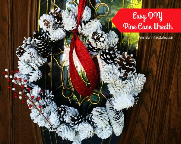Easy DIY pine cone wreath for Thanksgiving or Christmas