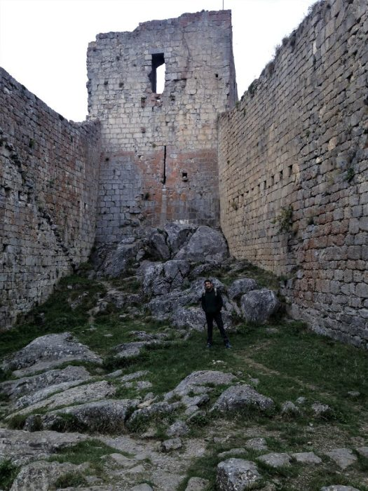 Interior del Castillo de Montsègur
