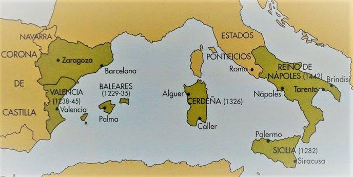 Las conquistas de la Corona de Aragón en el mediterráneo