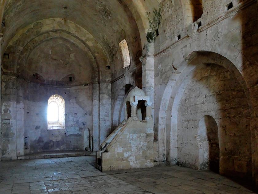 La capilla cristiana con el Minbar