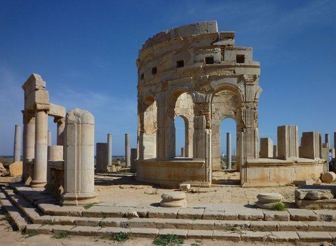 Construcciones circulares del mercado de Leptis Magna
