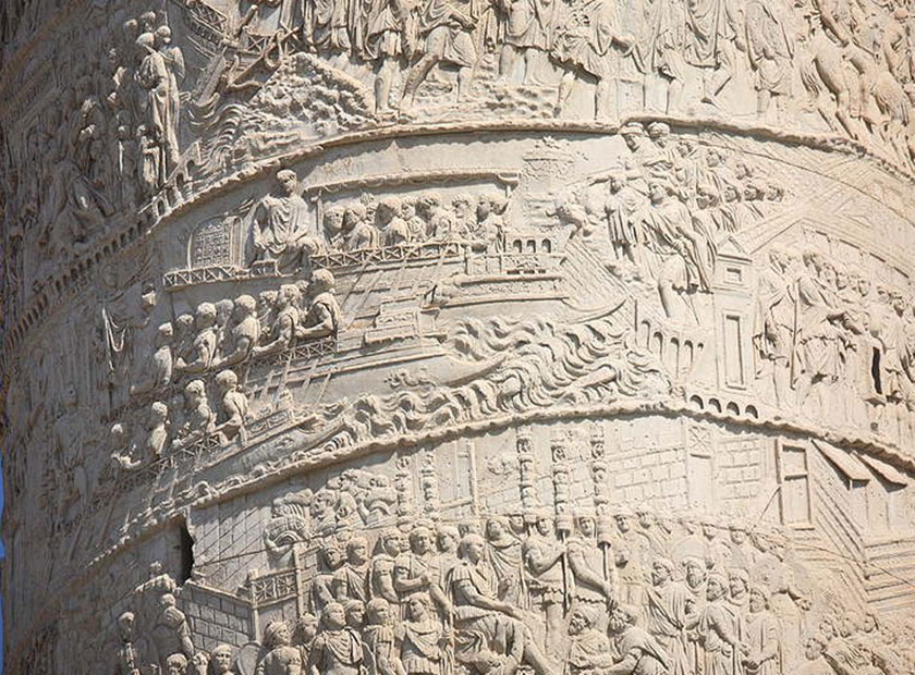 La columna trajana tras la conquista de la Dacia