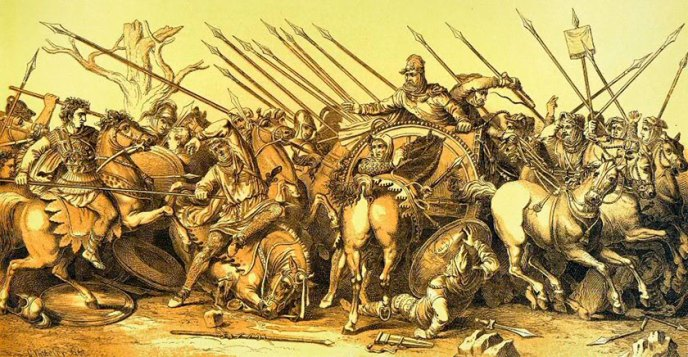 Reconstrucción de célebre mosaico de Alejandro Magno
