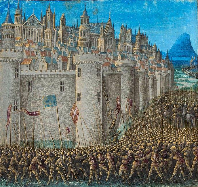 El asedio de Antioquia.