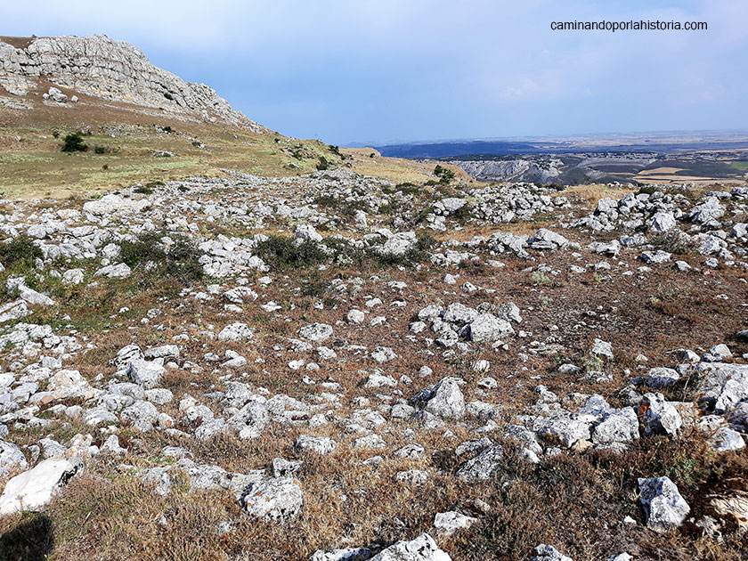 El desdibujado castro cántabro de Peña Amaya., (con sus vistas)