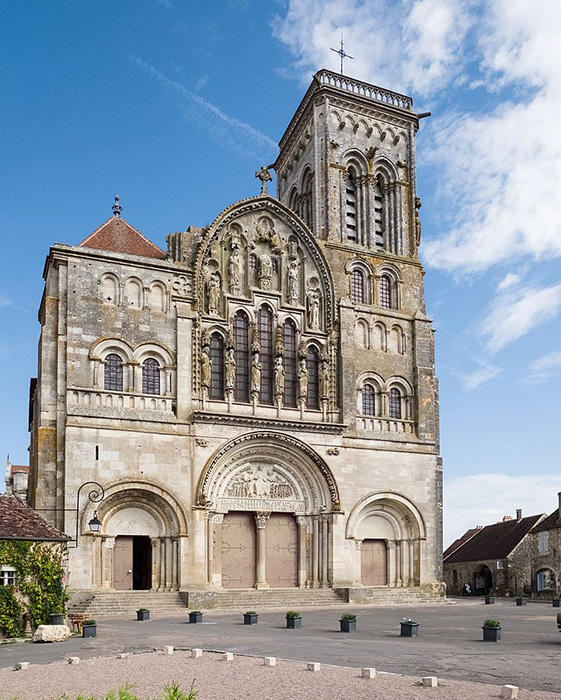 Catedral de Vézalay, punto de partida de la Tercera Cruzada