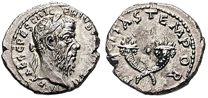 Denarios de Pescinio Níger (el año de los cinco emperadores)