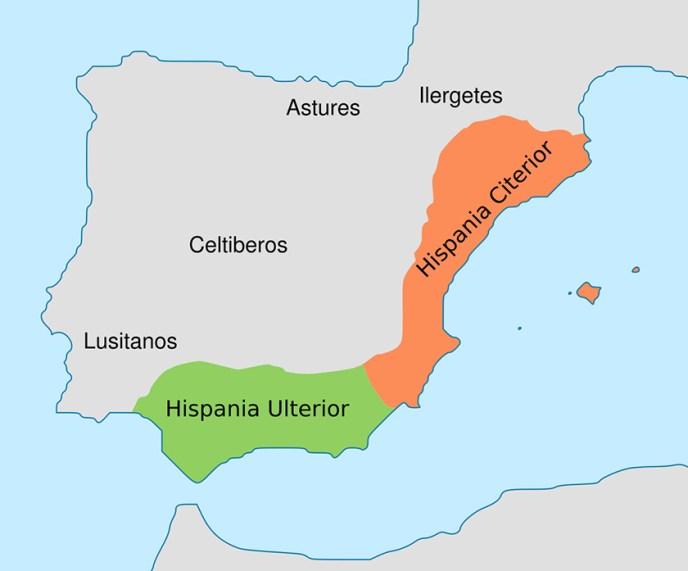 Hispania en el año 197 a. C.