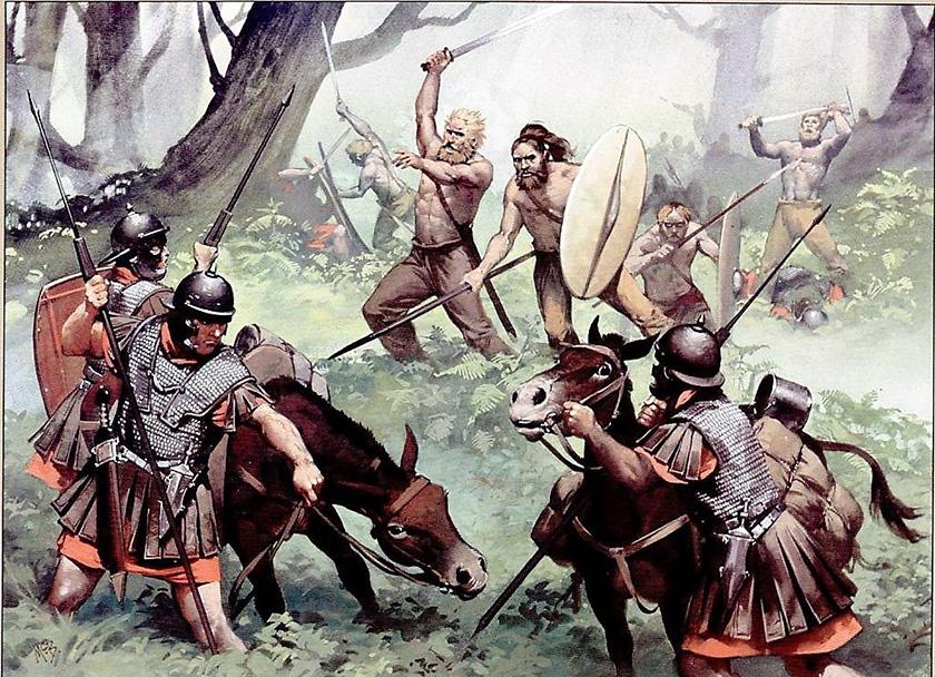 Un buena ilustración de lo que pudo ser la conquista romana de Germania.