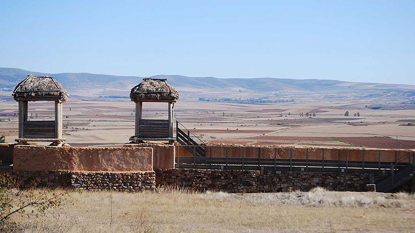 Reconstrucción de las murallas de Numancia