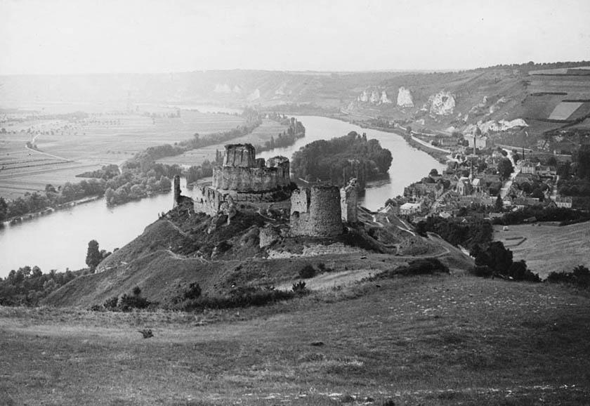 Interesante imagen del Castillo de Gaillard en el año 1900