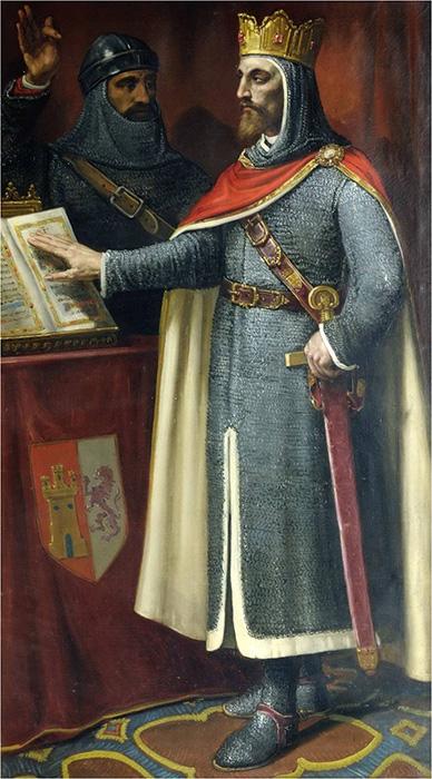 Alfonso VI (pintura del Ayuntamiento de León)